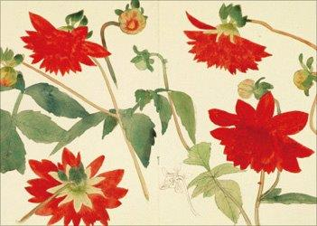painting of Dahlia by Gyoshu Hayami (Yamatane Museum of Art) 2