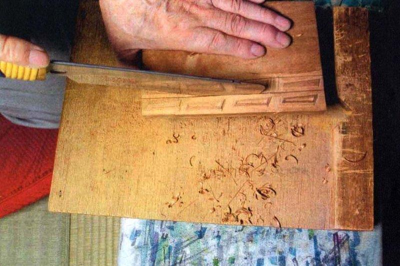 cutting woodblock apart