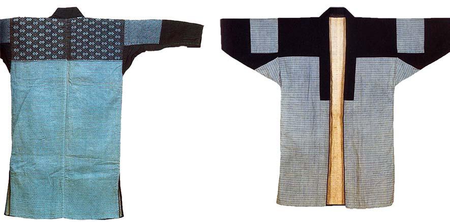 2 Nanbu hishi-zashi kimonos