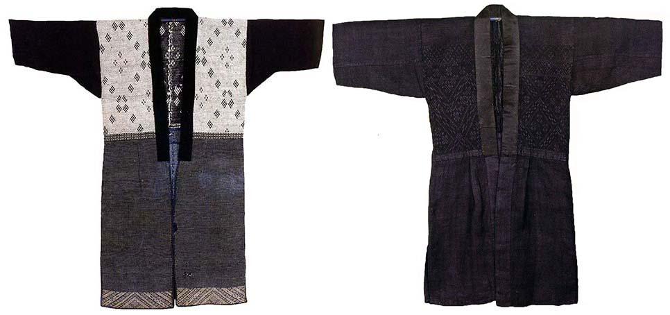 2 tsugaru kogin-zashi kimonos