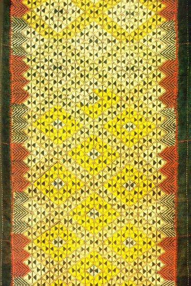 Lozenge-patterned maedare