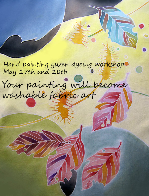 yuzen dyeing workshop poster
